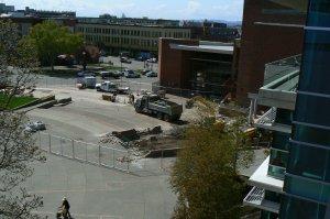 Demolition of Knot Garden